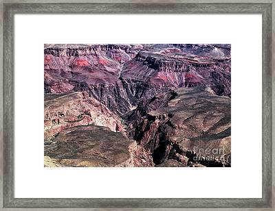 Cracks In The Canyon Framed Print by John Rizzuto
