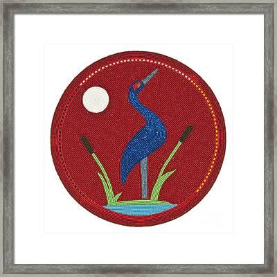 Cradleboard Beadwork Summer Crane Framed Print by Douglas K Limon