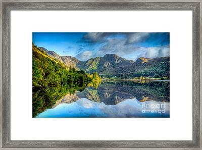 Craf Nant Lake Framed Print by Adrian Evans
