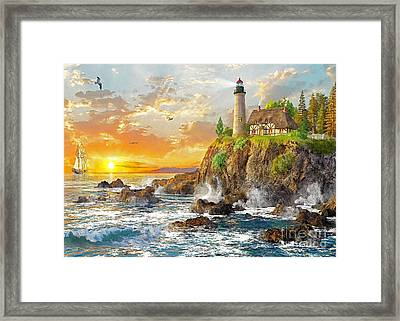 Craggy Cove Framed Print by Dominic Davison