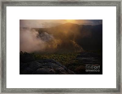 Craggy Garden Sunset Framed Print by Jonathan Welch