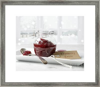 Cranberry Sauce Framed Print by Amanda Elwell