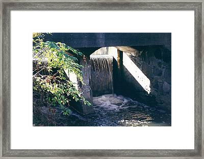 Cranbrook Waterfall Framed Print by Cynthia Hilliard
