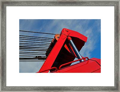 Crane - Photography By William Patrick And Sharon Cummings Framed Print by Sharon Cummings