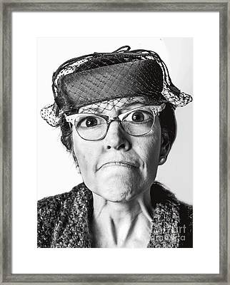 Cranky Old Lady Framed Print by Diane Diederich