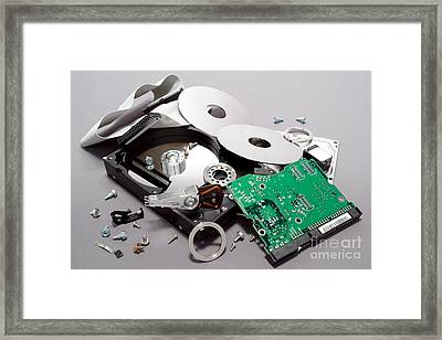 Crashed Framed Print by Olivier Le Queinec