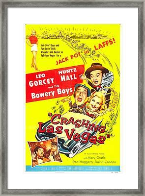 Crashing Las Vegas, Us Poster, Center Framed Print by Everett