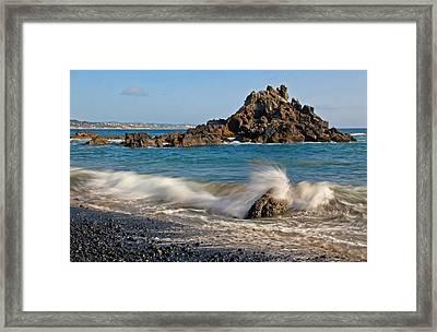 Crashing Of The Waves Framed Print by Athena Mckinzie