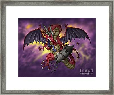 Crashing The Party Framed Print by Fian Arroyo