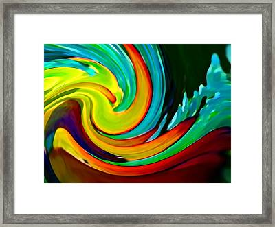 Crashing Wave Framed Print by Amy Vangsgard