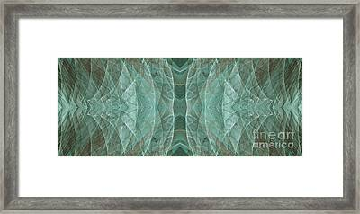 Crashing Waves Of Green 2 - Panorama - Abstract - Fractal Art Framed Print by Andee Design