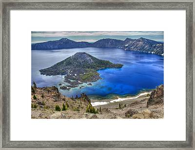 Crater Lake Oregon Framed Print by Pierre Leclerc Photography