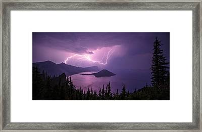 Crater Storm Framed Print by Chad Dutson