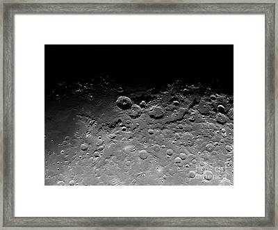 Crater Theophilus Framed Print by Chris Cook