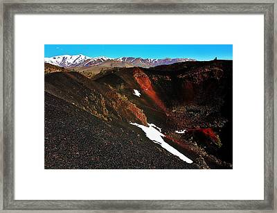 Craters Of The Moon Framed Print by Benjamin Yeager