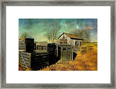 Crates'n Cabin Framed Print by Diana Angstadt