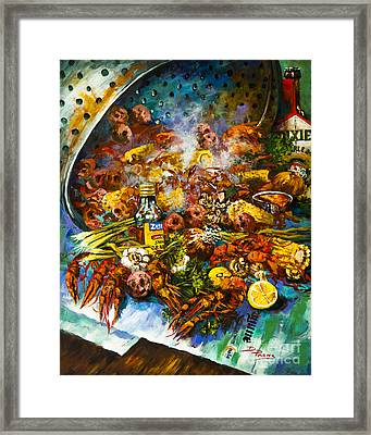 Crawfish Time Framed Print by Dianne Parks