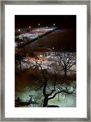 Crawford Wharf Framed Print by Paul Wash