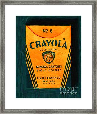Crayola Crayons - Painterly Framed Print by Wingsdomain Art and Photography