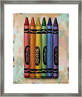 Crayola Framed Print by David Palmer