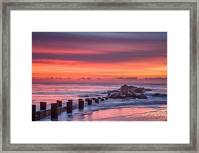 Crayon Sunrise Framed Print by Steve DuPree
