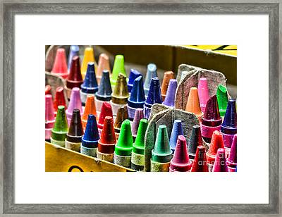Crayons - All That Color Framed Print by Paul Ward