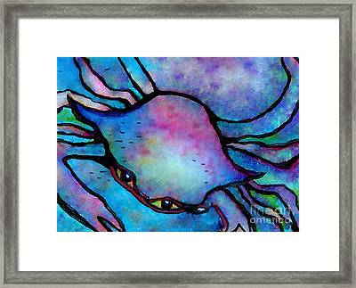 Crazy Crab Abstract Framed Print by Eloise Schneider