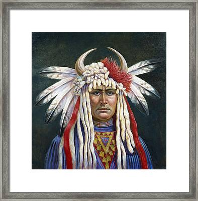 Crazy Horse Framed Print by Gregory Perillo