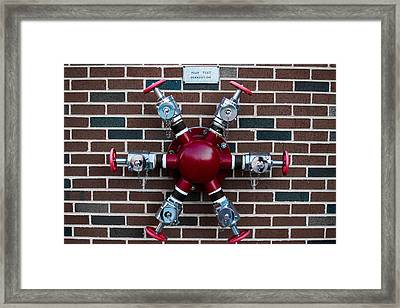 Crazy Water Pump Framed Print by Nathan Hillis
