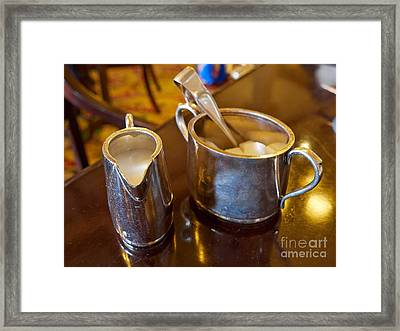 Cream And Sugar Framed Print by Louise Heusinkveld