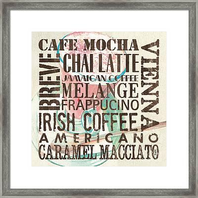 Cream Coffee Of The Day 1 Framed Print by Debbie DeWitt