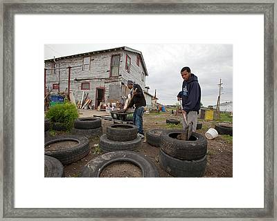 Creating Community Garden Framed Print by Jim West