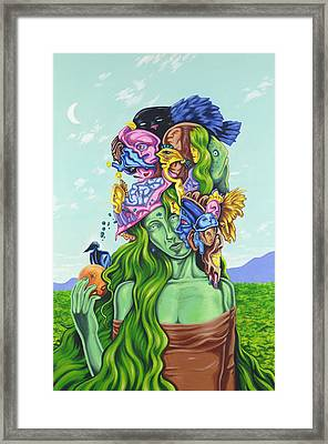 Creation Of Eve Framed Print by Charles Luna