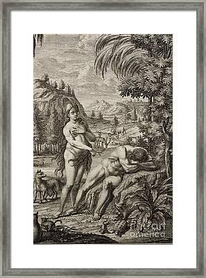 Creation Of Eve From Adams Rib Framed Print by Paul D. Stewart