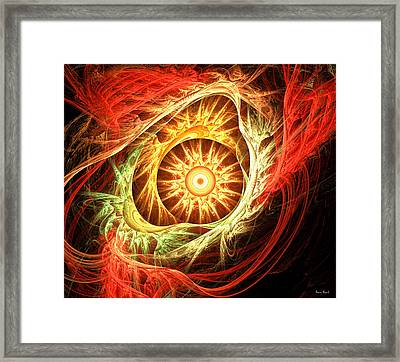 Creation Of Sun Framed Print by Lourry Legarde