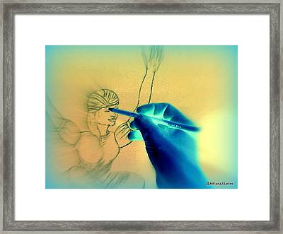 Creative Energy Framed Print by Adriana Garces