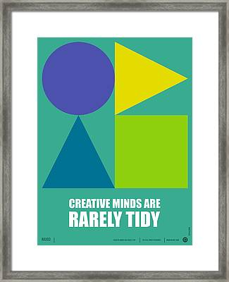 Creative Minds Poster Framed Print by Naxart Studio