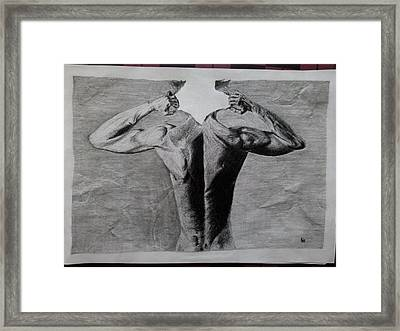 Creative Pencil Art Framed Print by Ajay G