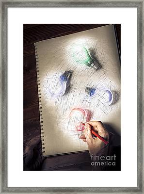 Creativity In The Formulation Of Words And Ideas  Framed Print by Jorgo Photography - Wall Art Gallery