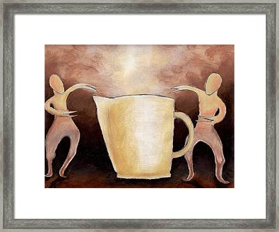 Creator Of The Coffee Framed Print by Keith Gruis