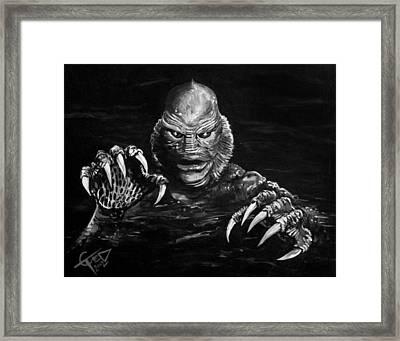 Creature Framed Print by Tom Carlton