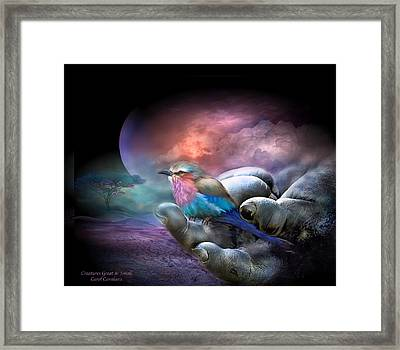 Creatures Great And Small Framed Print by Carol Cavalaris