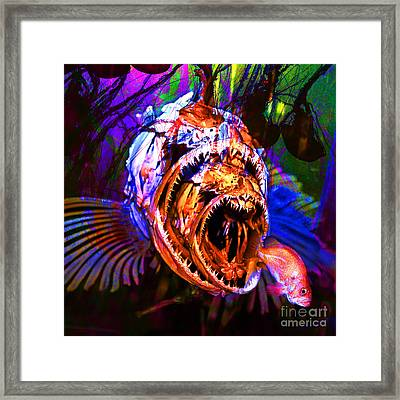 Creatures Of The Deep - Fear No Fish 5d24799 Square Framed Print by Wingsdomain Art and Photography