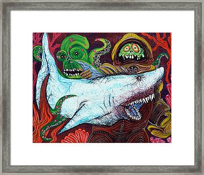 Creatures Of The Deep Framed Print by Laura Barbosa