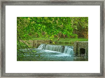creek at Valley Forge Framed Print by Rima Biswas