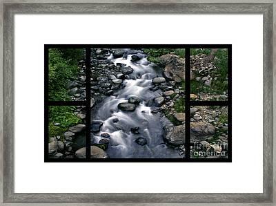 Creek Flow Polyptych Framed Print by Peter Piatt