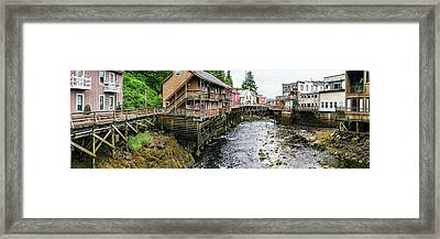 Creek Street On Ketchikan Creek Framed Print by Panoramic Images
