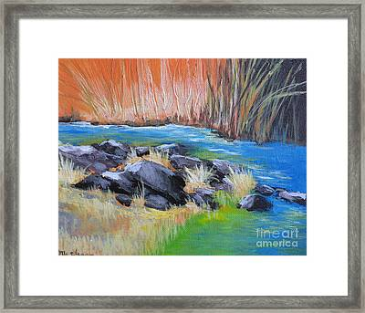 Creekside Framed Print by Melody Cleary