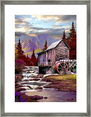 Creekside Mill Framed Print by Ron Chambers