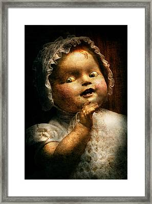Creepy - Doll - Come Play With Me Framed Print by Mike Savad